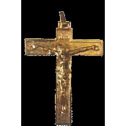 CROIX D'AUBE MÉTAL DORÉ 8cm