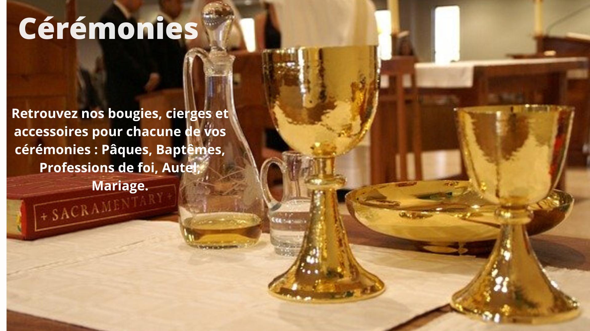 Toutes les bougies des cérémonies religieuses | Ciergerie Brousse